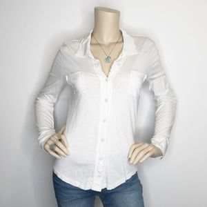 Michael Stars Anthropologie One Size White Top